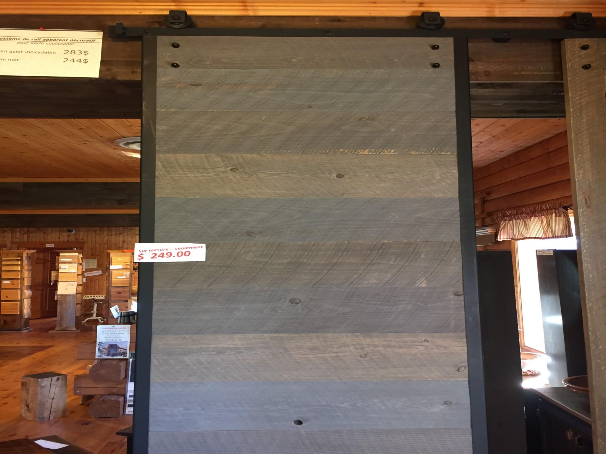 porte de grange style industriel pro pin le sp cialiste du bois de pin. Black Bedroom Furniture Sets. Home Design Ideas