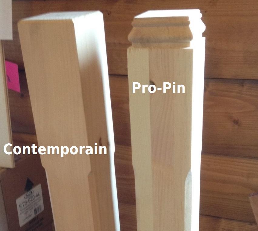 poteau et demi poteau pour escalier pro pin le sp cialiste du bois de pin. Black Bedroom Furniture Sets. Home Design Ideas