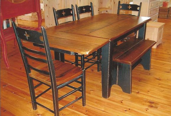 table rustique pine industriel custom