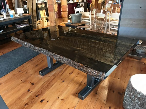 table live edge indusriel epoxy
