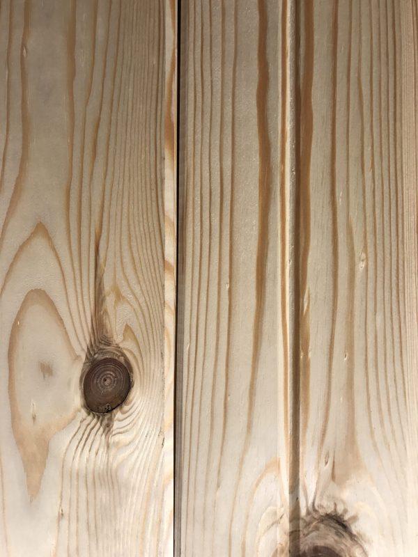 lambris pin rouge v-joint recouvrement mural rustique bois de grange