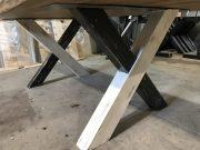 Patte métal et bois. industriel pin