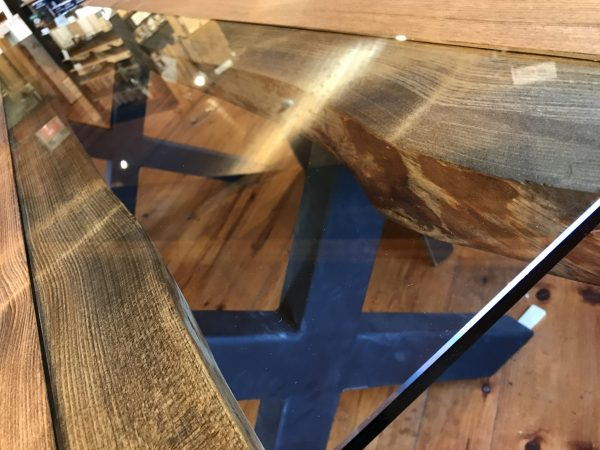 table live edge industriel pin massif