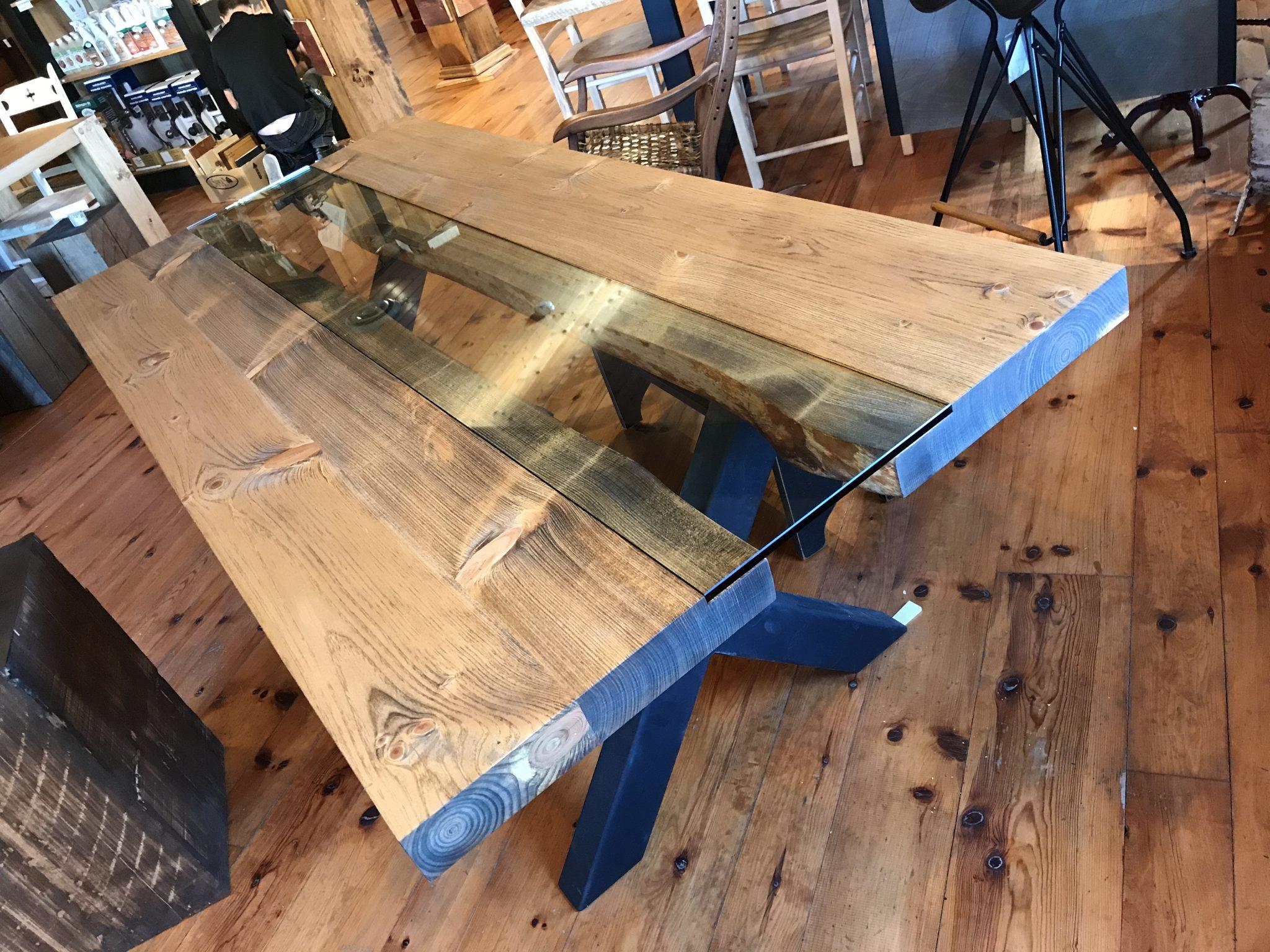table pin blanc pro-pin live edge