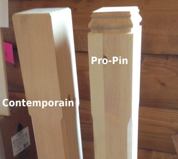 Poteau et demi-poteau pour escalier