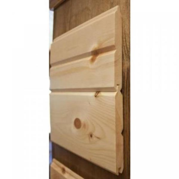 White pine knotty grade v joint