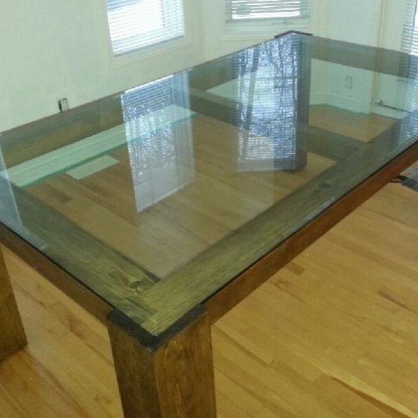 Tables en pin solide sur mesure pro pin le sp cialiste du bois de pin - Dessus de table en verre sur mesure ...