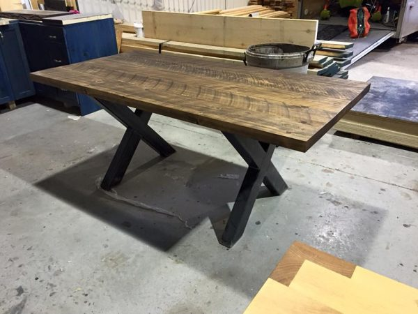 Table With Metal Legs Pro Pin The Pine Wood Specialist