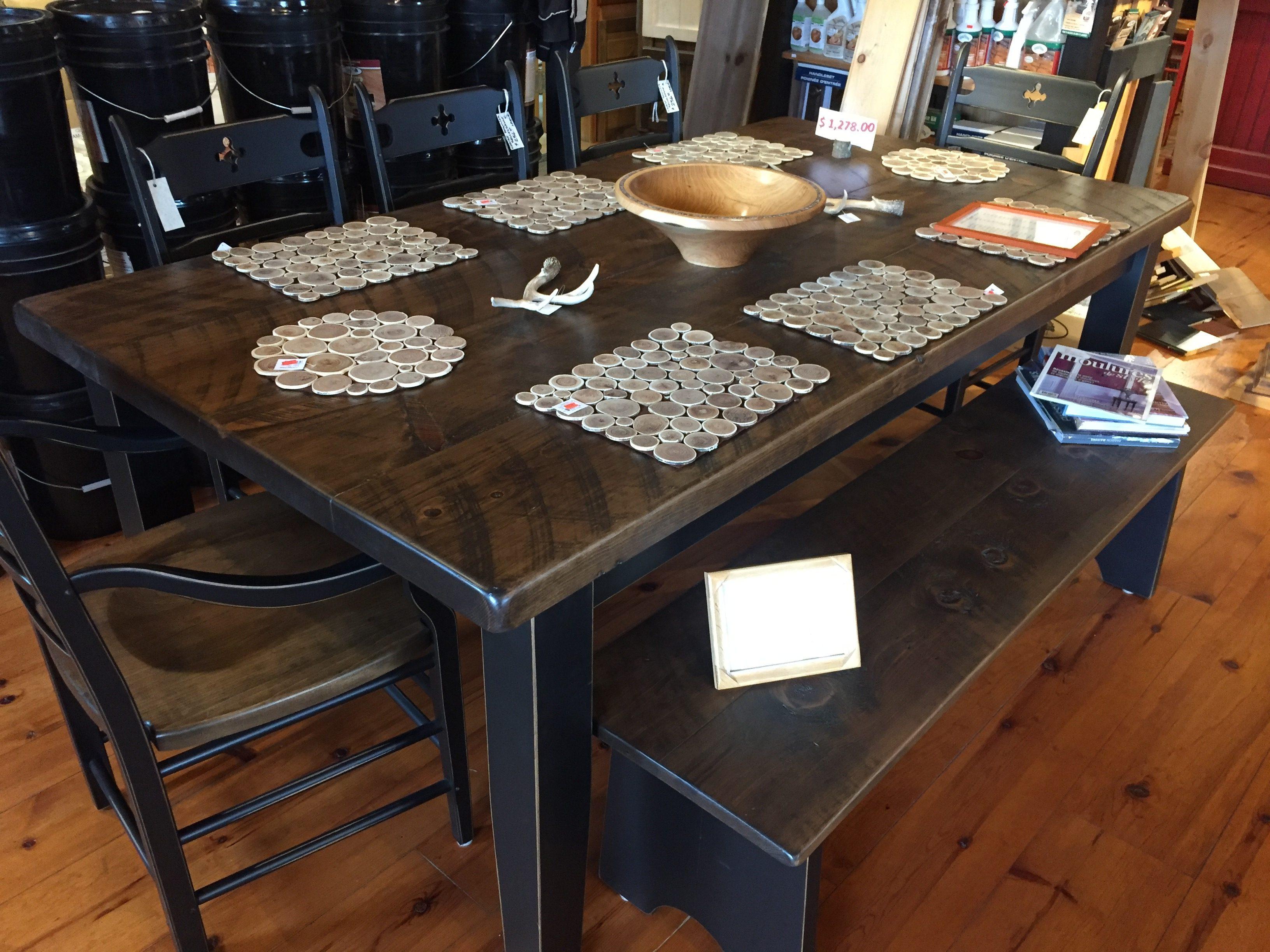 Table rustique dessus de table 2 pro pin le Table bois rustique