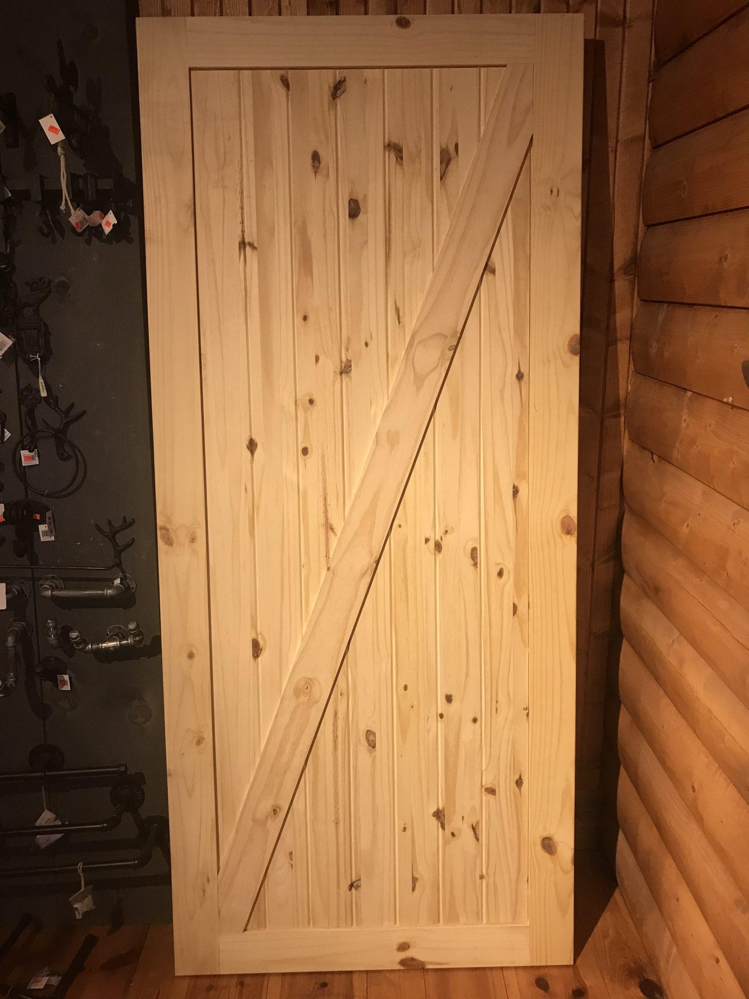 porte de grange barn door whit pine pin rustique rustic